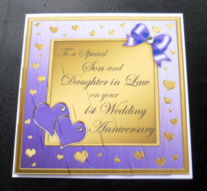 Son-Daughter-In-Law-1st-First-Wedding-Anniversary-Card-4-Colours