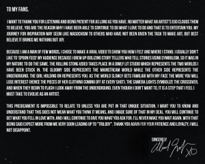 The Weeknd Releases Public Letter: 'To My Fans'