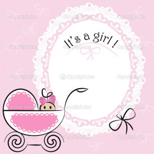 Girl Baby Card Its A Girl Theme Baby Girl Congratulations Quotes ...