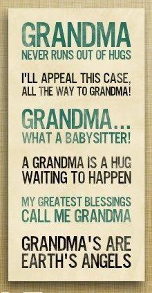 Grandma's are earth's angels #grandma #quotes