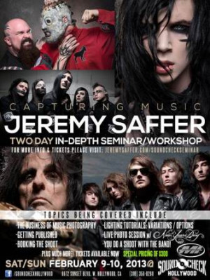 Rock Photographer JEREMY SAFFER Announces NEW YEARS DAY as Guest Band ...