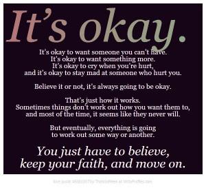 Its okay, not to be okay