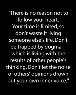 ... . Your Time Is Limited, So Don't Waste It Living… ~ Peace Quote