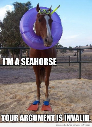 Seahorse, Your Argument is Invalid