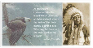 Chief Seattle quote (frame)