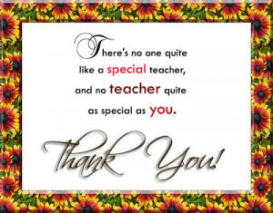 special teacher and no teacher quite as special as you