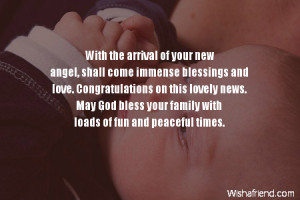 With the arrival of your new angel, shall come immense blessings and ...