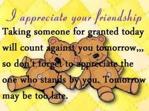 -friendship quotes http://www.quotesonimages.com/88106/i-appreciate ...