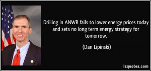 ANWR fails to lower energy prices today and sets no long term energy ...