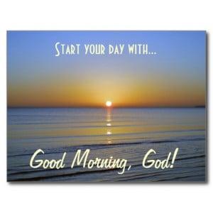 good_morning_god_inspirational_christian_message_postcard ...