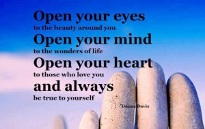 Open your mind to the wonders of life image quotes and sayings