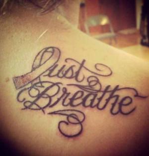 Lung Cancer Tattoo
