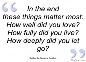 in the end siddhartha gautama buddha