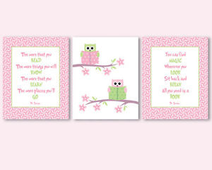 ... posters for kids, baby, nursery - Dr Seuss quotes about reading, owls