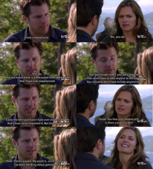 Maggie Lawson as Juliet O'Hara and James Roday as Shawn Spencer from ...