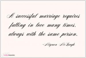 Marriage Quote by Mignon McLaugh