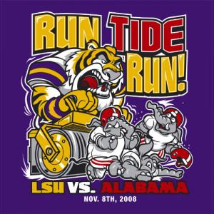 LSU vs Alabama Gameday Shirt - Run Tide Run