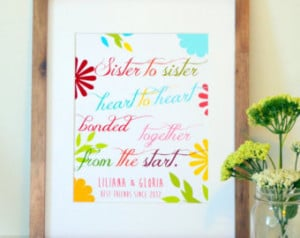 ... 11x14 print- sister quote- gift for sister- birthday gift for sister