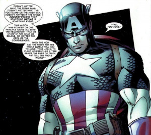 Captain America being ham.