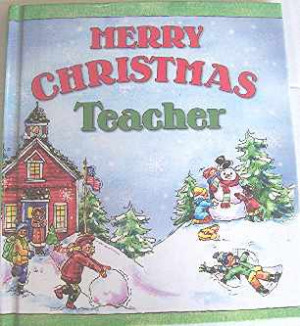 Merry Christmas Teacher Gift Book