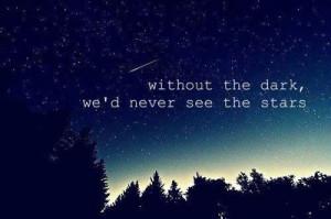 beautiful, dark, life, lovely, night, quote, sky, stars