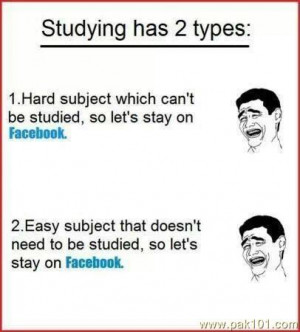 Funny Studying Pictures Students Studying has two types