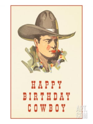 Happy Birthday Cowboy Print