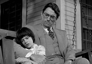Mary Badham and Gregory Peck in the 1962 film To Kill a Mockingbird in ...