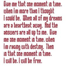 Whitney Houston - One Moment In Time - song lyrics, song quotes, songs ...