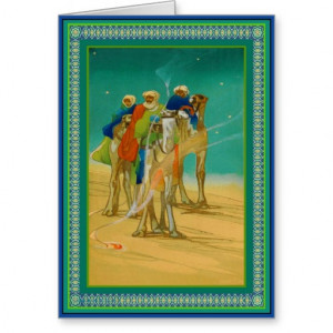 Three Wise Men Giving Gifts