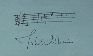 603: Composer JOHN WILLIAMS - Musical Quote Signed