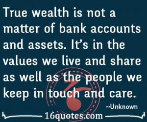 True wealth quotes