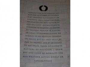 Thomas Jefferson Memorial Panel 2 Quote