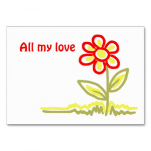 All my love gift tag profilecard