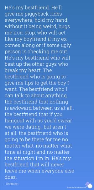Hes My Best Friend And My Boyfriend Quotes He's my bestfriend.