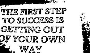 The first step to success...