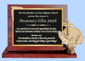 Pastor Appreciation Plaque Wording