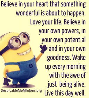 Minion Quotes It is nice to have someone in your life jpg