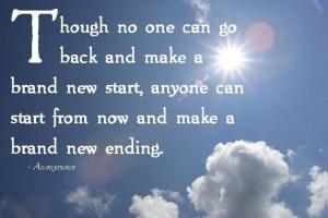 make a new start