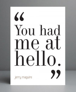 Movie Quote - Jerry Maguire. Typography Print. 8x10 on A4 Archival ...