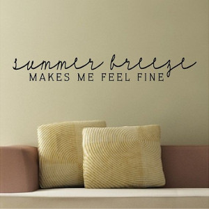 Summer Breeze.....Beach Wall Quotes Words Decals by eyecandysigns, $14 ...