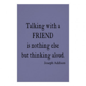 vintage purple lavender addison friendship quote print