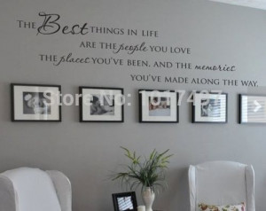 Things In Life Vinyl wall decals quotes~ Love Memories Wall Quote Home ...