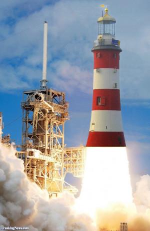 Lighthouse Rocket Launch