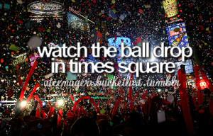 ball, ball drop, bucket, bucket list, drop, list, new york, nyc, pic ...