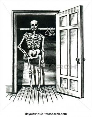 - skeleton, closet, skeletons in the closet, absurdities, sayings ...