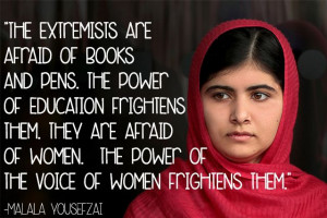 ... From Taliban,Malala Inspires Us. #quotes#inspirational#education