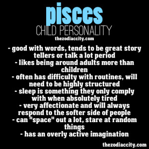 Pisces Child Personality.