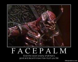 Random Lord Zedd's facepalm