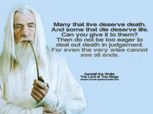 Gandalf Death Quote